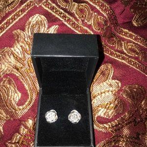 Kay silver diamond earings